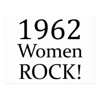 1962 Women Rock Postcard
