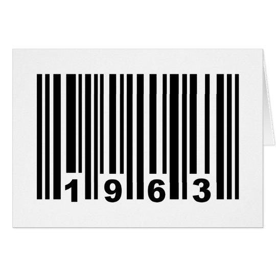 1963 barcode card