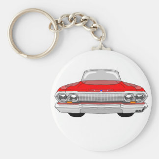 1963 Chevrolet Impala Basic Round Button Key Ring