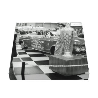 1963 Chicago Auto Show Chrysler Pace Car Woman Canvas Print