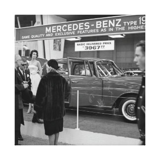 1963 Chicago Auto Show Mercedes-Benz automobile Canvas Print
