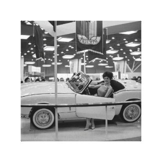 1963 Chicago Auto Show Woman Model in Triumph Car Canvas Print