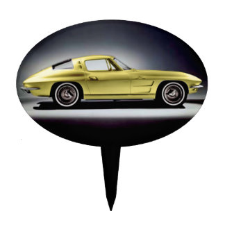 1963 Corvette Sting Ray Cake Picks