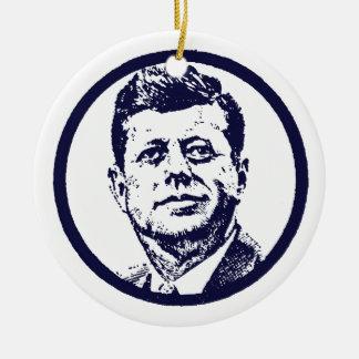 1963 JFK ROUND CERAMIC DECORATION