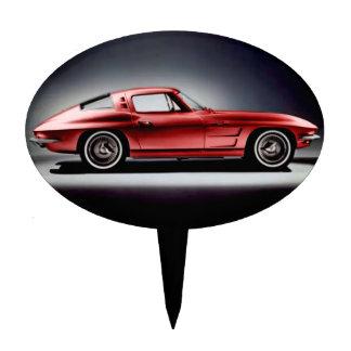 1963 Red Corvette Sting Ray Cake Picks