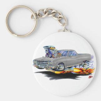 1964-65 El Camino Grey Truck Basic Round Button Key Ring