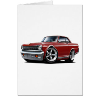 1964-65 Nova Maroon Car Card