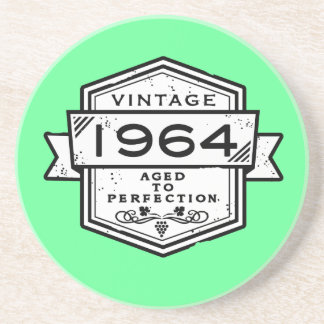 1964 Aged To Perfection Sandstone Coaster
