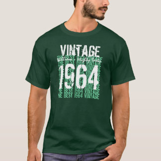1964 Best Vintage Year Birthday Tee Hues of Green