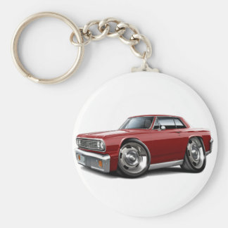 1964 Chevelle Maroon Car Basic Round Button Key Ring