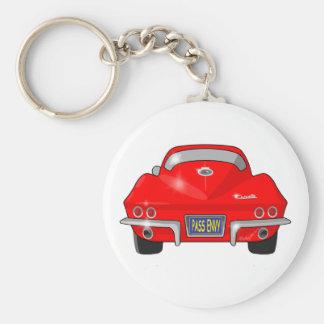 1964 Chevrolet Corvette Stingray Basic Round Button Key Ring