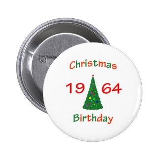 1964 Christmas Birthday 6 Cm Round Badge