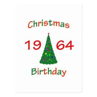 1964 Christmas Birthday Postcard