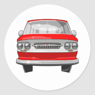 1964 Corvair Greenbrier Classic Round Sticker