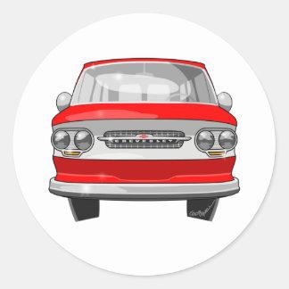 1964 Corvair Greenbrier Round Sticker