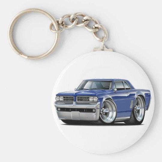 1964 GTO Dk Blue Car Basic Round Button Key Ring