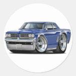 1964 GTO Dk Blue Car Classic Round Sticker