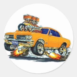 1964 GTO Orange Car Stickers