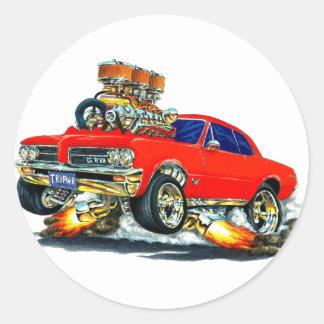 1964 GTO Red Car Round Sticker