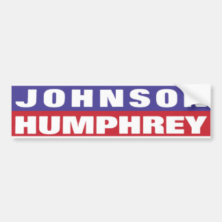 1964 Johnson Humphrey Bumper Sticker