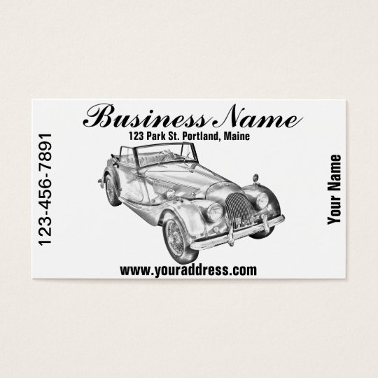 1964 Morgan Plus 4 Sports Car Illustration Business
