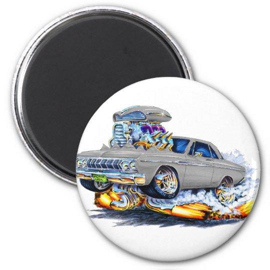 1964 Plymouth Grey Car 6 Cm Round Magnet