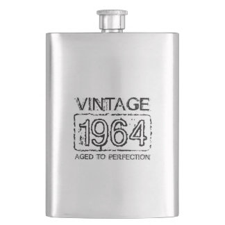 1964 Stainless steel flask | Vintage Birthday gift