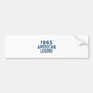 1965 American Legend Birthday Designs Bumper Sticker