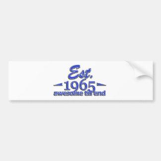 1965 birthday designs bumper stickers