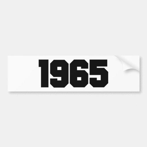 1965 BUMPER STICKERS