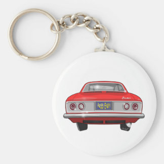 1965 Chevrolet Corvair Pass Envy Basic Round Button Key Ring