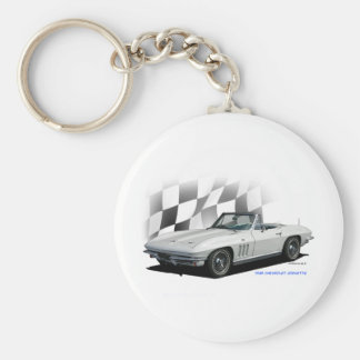 1965 Chevrolet Corvette Basic Round Button Key Ring