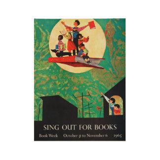 1965 Children's Book Week Wood Poster