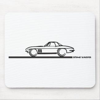 1965 Corvette Stingray Hardtop BLK Mouse Pad