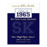 1965 Custom Class Reunion Save-the-Date Post Cards