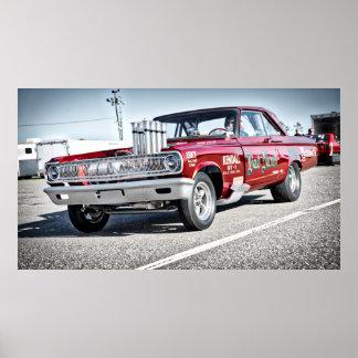 1965 Dodge Drag Race Car Poster