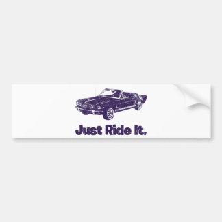 1965 Ford Mustang Convertible Car Bumper Sticker