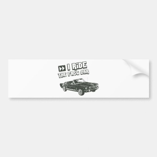 1965 Ford Mustang Convertible Bumper Sticker