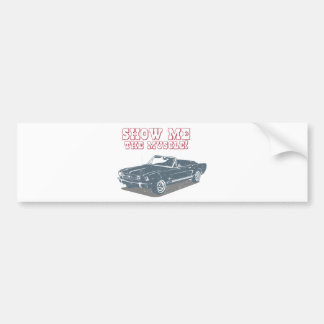 1965 Ford Mustang Convertible Bumper Sticker