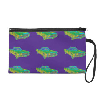 1965 Ford Mustang Convertible Pop Image Wristlet Purses