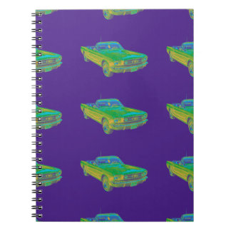 1965 Ford Mustang Convertible Pop Image Notebooks
