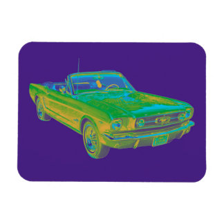 1965 Ford Mustang Convertible Pop Image Vinyl Magnets