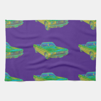 1965 Ford Mustang Convertible Pop Image Kitchen Towel