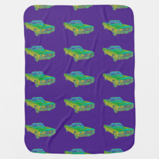 1965 Ford Mustang Convertible Pop Image Baby Blankets