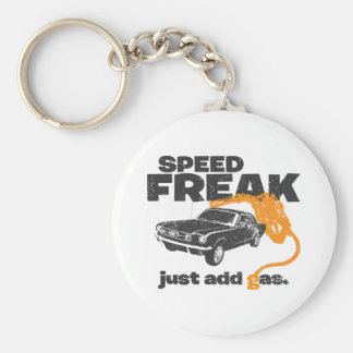 1965 Ford Mustang Coupe Basic Round Button Key Ring