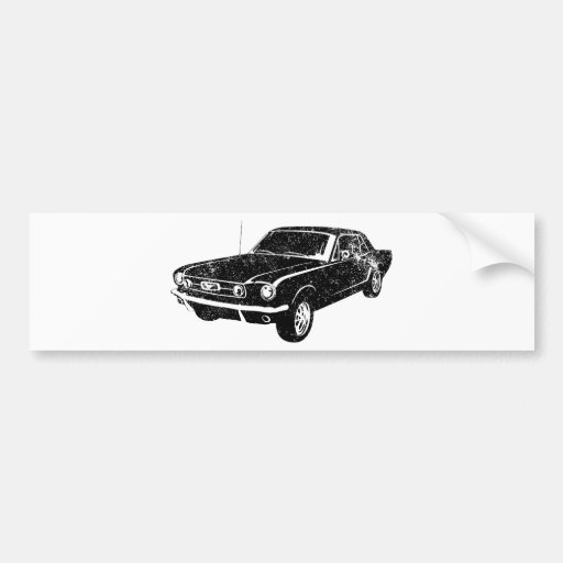 1965 Ford Mustang Coupe Bumper Stickers