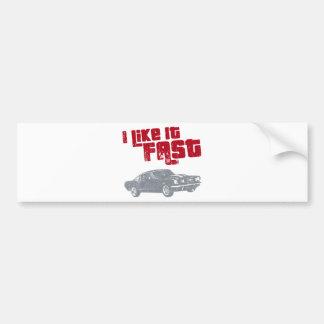 1965 Ford Mustang Fastback Car Bumper Sticker