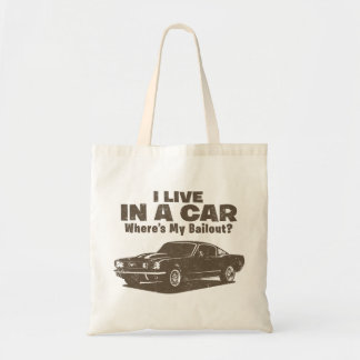 1965 Ford Mustang Fastback Budget Tote Bag