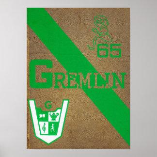 1965 Graydon Gremlin Yearbook Poster
