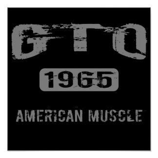 1965 GTO American Muscle Poster